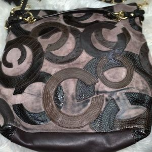 Coach Brooke Brown Leather Suede bag Limited Ed